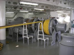 An electrical frequency-controlled Hatlapa winch