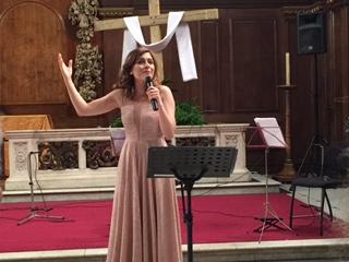 Elena Hadjiafxendi performing