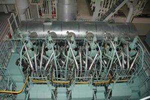 ME-LGI main engine (courtesy Methanex)