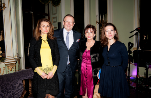 l to r: H.E The Russian Ambassador Yakovenko Alexander Vladimirovich with his wife Nana, Chrysanthi Lemos and Sofia Constantopoulou-Papadopoulos