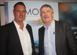 Jacques Janse van Rensburg, left, and Julian Hanna of MOD Resources.
