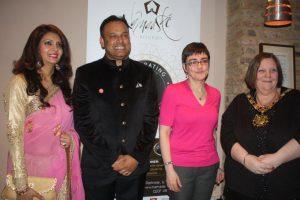 Restaurateurs Aneela and Sabbir Karim, Camden council leader Sarah Hayward, and Camden mayor Larraine Revah.
