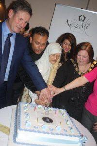 Sabbir's mother leads cake-cutting ceremony