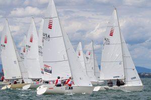 Sonar fleet at the 2015 Worlds