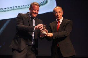 Cees van Noort being honoured with John D. Coustas
