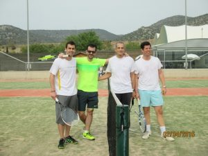 Diamantis and George Angelakis (Anbros Maritime), Aristides J. Pittas (Euroseas) and Ioannis Minaidis  (A. M. Nomikos)