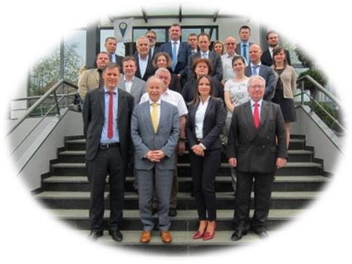 Božana Matos (CEO Port Authority of Vukovar, first row third from right)welcomed European Inland Ports and keynote speakers on 7-8 April.