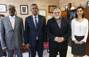 l to r: Alioune Matalla, Ahmedou Ould Hademine, Capt. Antonio M. Padrón and Elisa Zamora