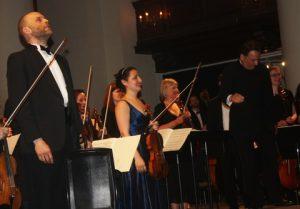 Adrian Garratt, Emmanuella Reiter and Levon Parikian take a bow.