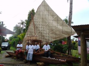 Canoe with craftsmen. Photo by Steven Hooper, courtesy Fiji: Art and Life inthe Pacific at The Sainsbury Centre for Visual Arts, Norwich.