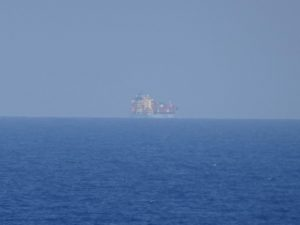 """Another view from the """"Oceanus"""" with another vessel passing-by in the SAR area"""