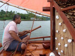 Domo, the master canoe builder. Photo by Steven Hooper.