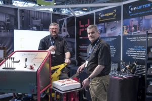 Hy-Dynamix™ officially launched the Hy-Weigh at Multimodal, at the Birmingham NEC, on Wednesday 11th May. Pictured left to right: Graeme Parkins, Managing Director, Glen Quickfall, Sales Director.
