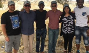 The mission spent four days in Palestine