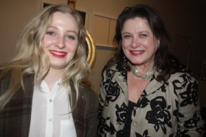 Guests included Barbara Taylor (right) and daughter Natalia Taylor.