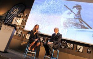Maria Erdi and World Sailing Vice President Gary Jobson