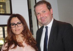 London lawyers Silvia Campeanu and John Walmsley.