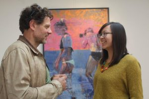 Christos Tsimaris and curator Tessa Yee