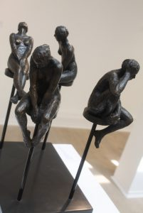 The 4 Sisters. Bronze resin. By Laurence Perratzi.