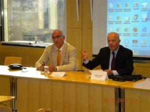 Captain (HCG) Sratos Drakoulis with CMC president Konstantine Vassilades