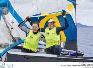 Swedish smiles Lisa Ericson and Hanna Klinga