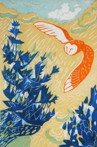 The owl and the holly tree.
