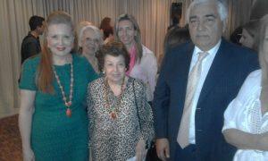 Lily Venizelos with Irene S. Daifas on hte left and other guests