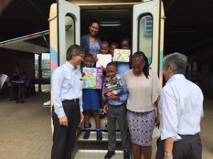 Children in South Africa delighted with the books