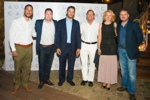 l to r: Philipp Vassiliades, Neil Revera, Byron Vassiliades, Hervé Martel, Karina Szafranek-Braś and Nick Morgan