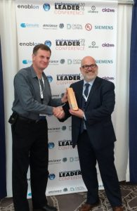Mike Winter accepting award on behalf of AkzoNobel