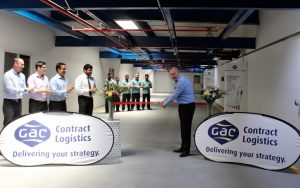 Neil McMaster, General Manager - Contract Logistics at GAC Dubai inaugurates company's new co-packing facility.
