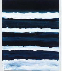 Night Swimmer. 1988. Oil on canvas. c Mary Heilmann. Photo Thomas Müller.Courtesy of artist, 303 Gallery, New York, and Hauser & Wirth.