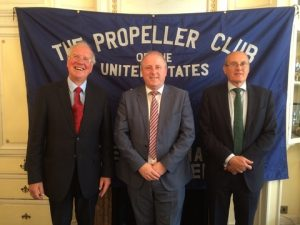 l to r:C olin Middlemiss; Cdr Ian Millen and Trevor Pearce