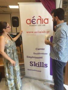 Carolina Alkalai, Hotel Manager of Kallichoron with Jesus Kalergis, Assistant Marketing Manager of Upstream