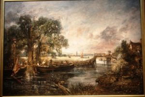 View on the Stour near Dedham. Full-scale sketch, oil on canvas. By John Constable.
