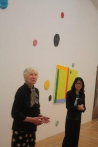Mary Heilmann and curator Lydia Yee.