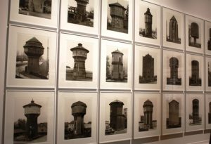 Water towers.  Silver gelatin print. By Bernd and Hilla Becher.