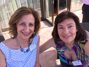 XRTC's Katerina Fitsiou with Athens Exchanges' Peggy Papastavrou