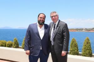 Vangelis Marinakis with Christopher J. Wiernicki.