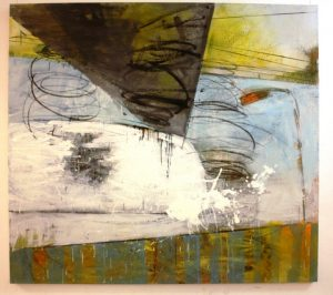 Road Trip 2. Oil, charcoal and conte on canvas. By Day Bowman.