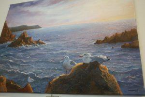 The Gulls. Oil painting by Daniele Mandelli.