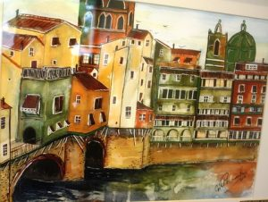 Florence. Mixed media. By Vivien Pharaoh.