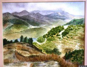 Cyprus. Watercolour. By Eileen Wall.