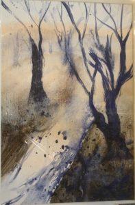 Forest Trail. Acrylic. By Graciete Amaro.