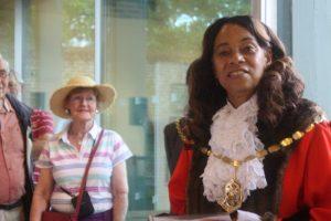 Mayor Brenda Fraser formally opens the show.