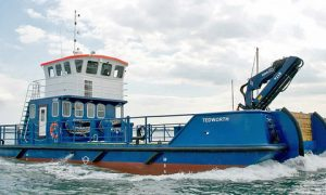 SHIPSHAPE: A Meercat Workboat, the Tedworth, which was sold last year