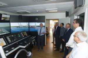 Valentin Rakutins Director BSM MTC Cyprus presenting the new bridge simulator