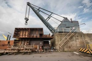 The Steam Crane on Alexandra Dock is just one of three listed structures to undergo restoration (image courtesy of ABP)