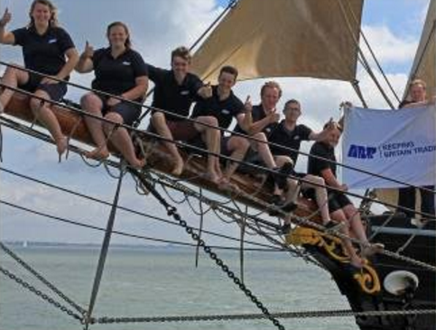 Eight ABP apprentices took part in the final leg of the 2016 Apprentice Ship Cup aboard the tall ship Bessie Ellen