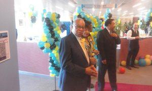 H.E  Mr. Eldred E. Bethel welcomig guests
